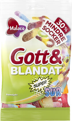 G&B Supersur mindre socker