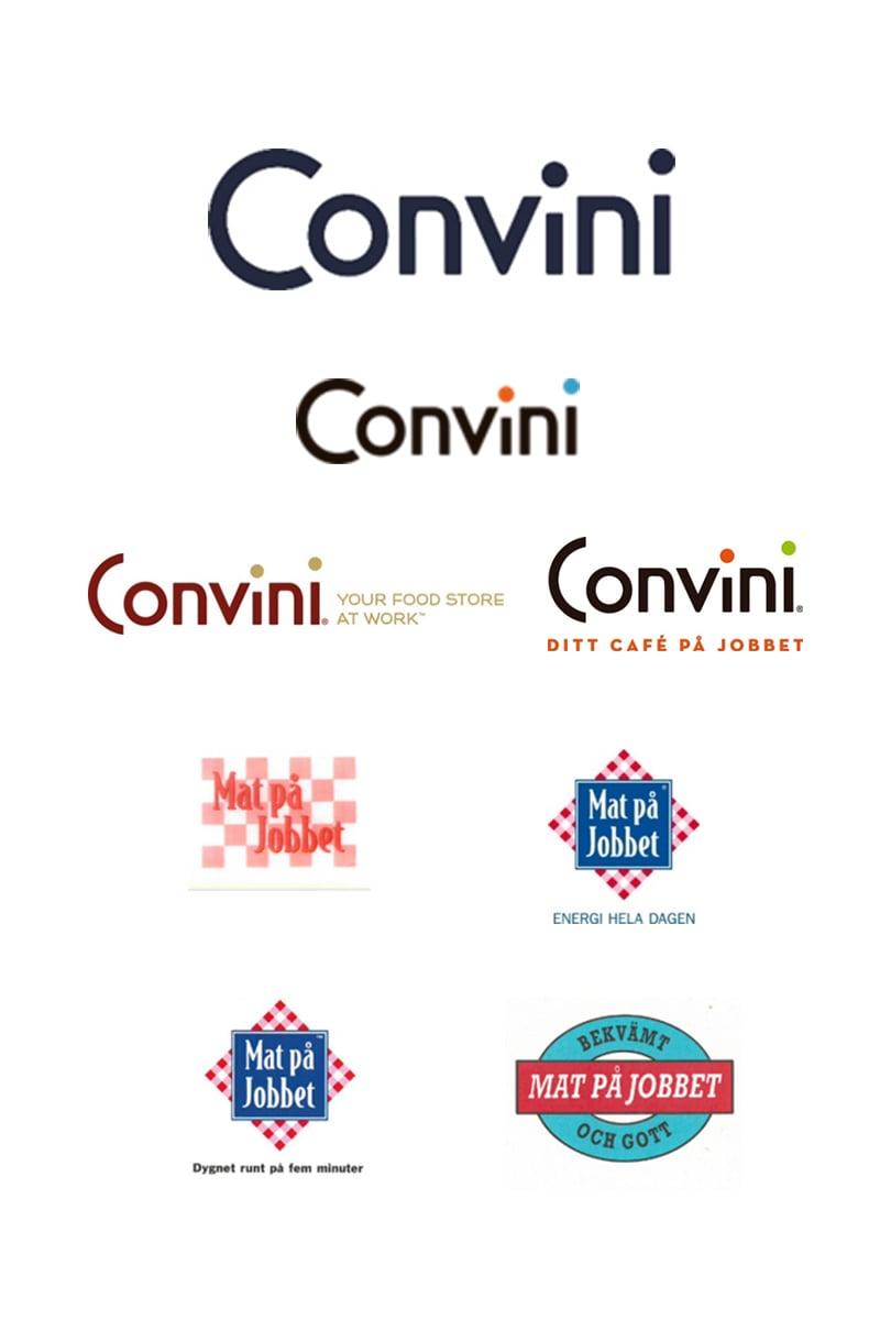 Logos från Mat på Jobbet till Convini
