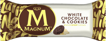 Nyhet - Magnum white chocolate & cookies